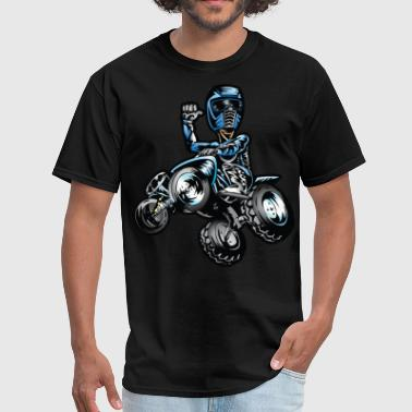 Blue Freestyle Quad - Men's T-Shirt