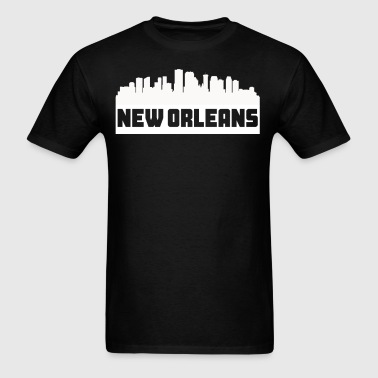 New Orleans Louisiana Skyline Silhouette - Men's T-Shirt