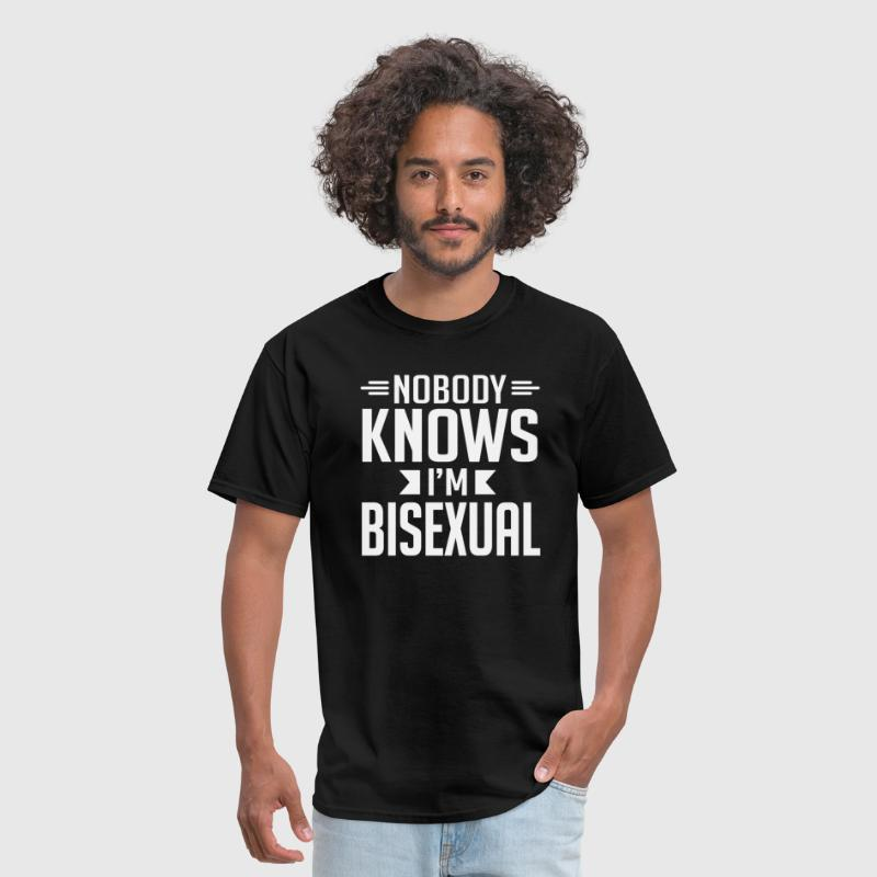 Nobody Knows I'm Bisexual T-Shirt - Men's T-Shirt
