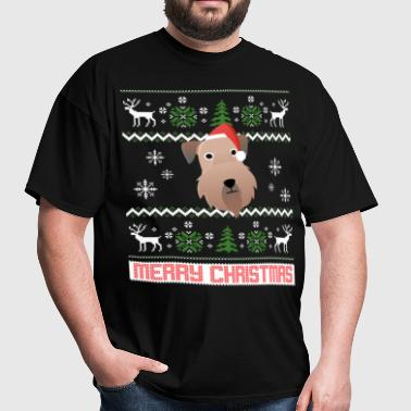 Soft Coated Wheaten Terrier Santa Snow Christmas T - Men's T-Shirt