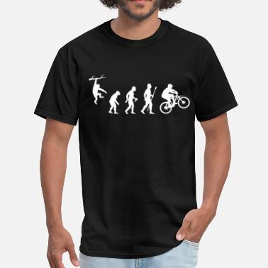 Bike Mountain Biking Evolution - Men's T-Shirt