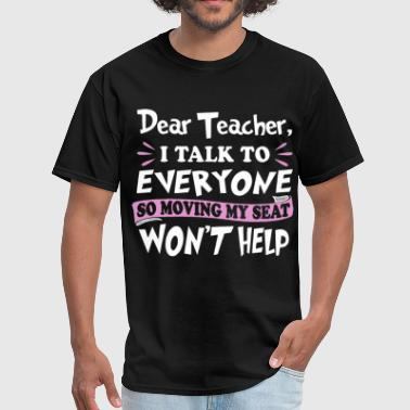 dear teacher math t shirts - Men's T-Shirt