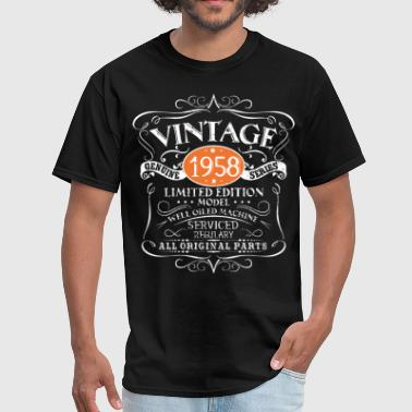 Naked Model vintage 1958 limited edition model well olded mach - Men's T-Shirt