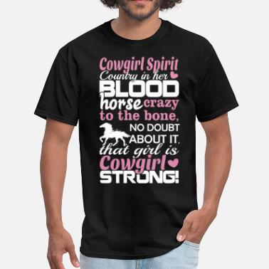 Cowgirl Dirty cowgirl spirit coutry in her blood cow t shirts - Men's T-Shirt