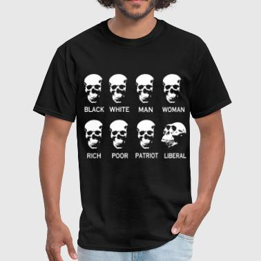 Black White Man Woman Rich Poor Patriot Liberal black white man woman rich poor patriot liberal - Men's T-Shirt