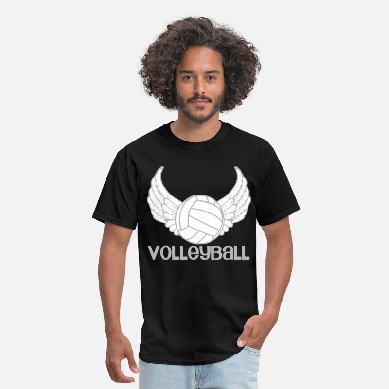 Court T-Shirts - Volleyball Wings - Men's T-Shirt black