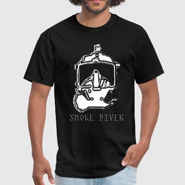 Smoke Diver - SCBA Firefighter Full Face Mask - Men's T-Shirt