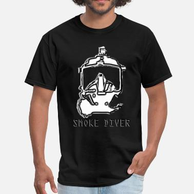 Rebreather Smoke Diver - SCBA Firefighter Full Face Mask - Men's T-Shirt