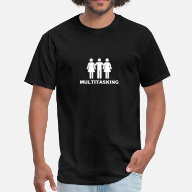 Playboy Threesome multitasking - Men's T-Shirt