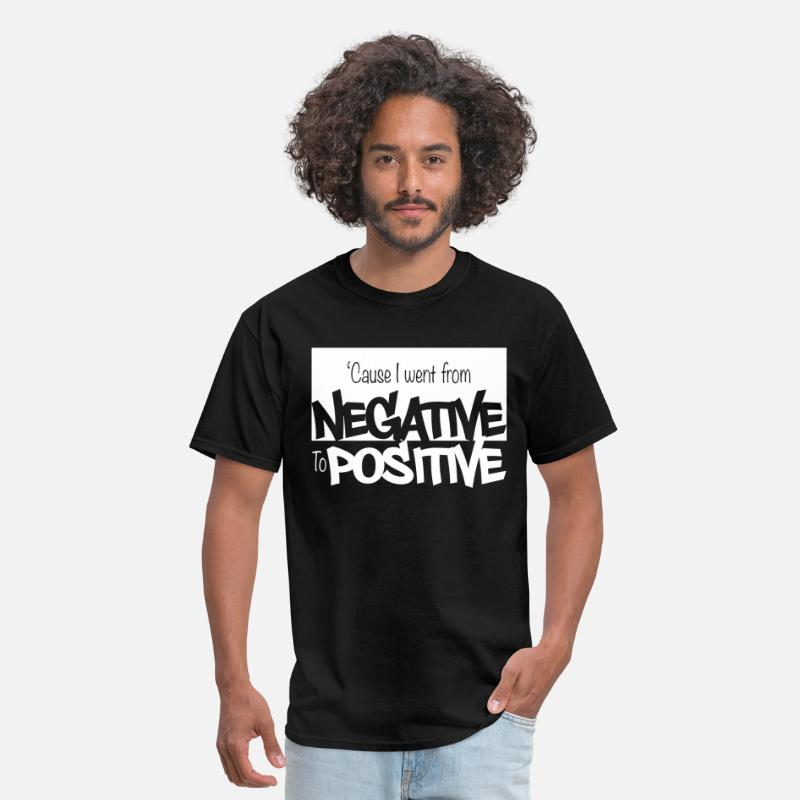 Positive T-Shirts - Negative to Positive - Men's T-Shirt black