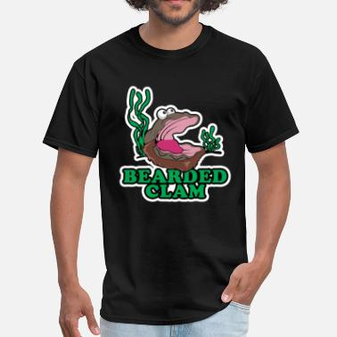 Clamming Bearded Clam - Men's T-Shirt
