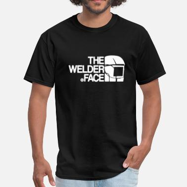 Funny Welder The Welder Face Shirt - Men's T-Shirt