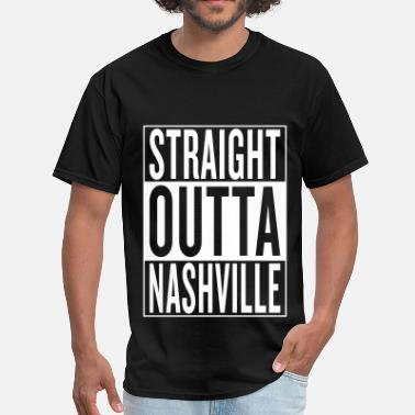 Country Music Addict straight outta Nashville - Men's T-Shirt