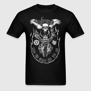 chopper man fond trans - Men's T-Shirt