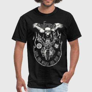 Motard chopper man fond trans - Men's T-Shirt