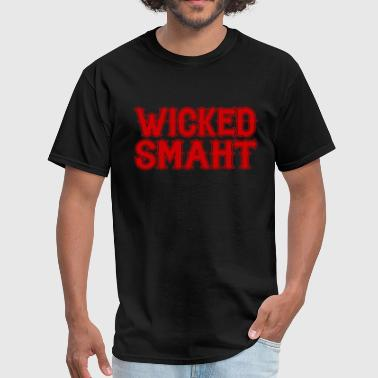 Boston Wicked Awesome Wicked Smaht Funny Smart Boston New England Gag Gi - Men's T-Shirt