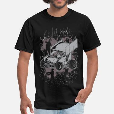 Sprint Car Winged Sprint Car Zombie - Men's T-Shirt