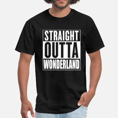 Wonderland Straight Outta Wonderland Alice Design - Men's T-Shirt