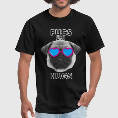 PUGS FOR HUGS - Men's T-Shirt