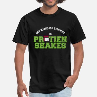 Gym Exercise Gym and Exercise Protein Shakes - Men's T-Shirt