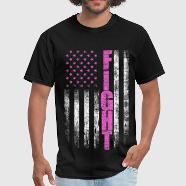 American Cancer Society Cancer Fighting Flag - America shirt - Men's T-Shirt