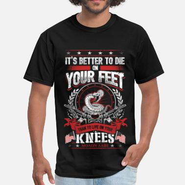 2nd Amendment Thomas Jefferson 2nd Amendment – It's better to die on your feet - Men's T-Shirt