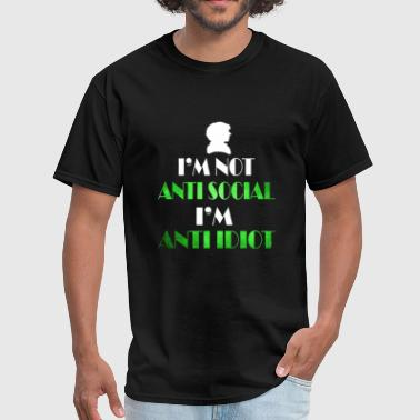 anti social - Men's T-Shirt