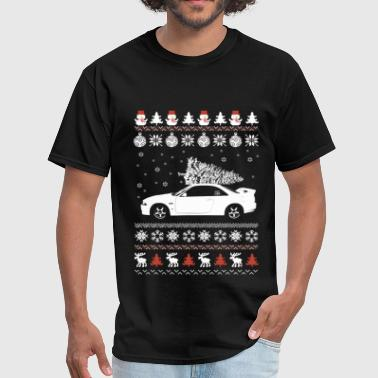 Ugly Christmas sweater for car lover - Men's T-Shirt