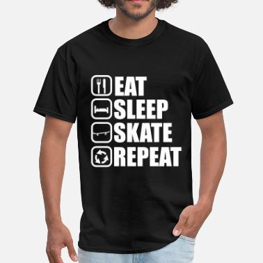 eat sleep skate - skateboarding - Men's T-Shirt