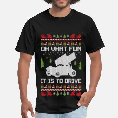 Sprint Sprint Car Christmas - Men's T-Shirt