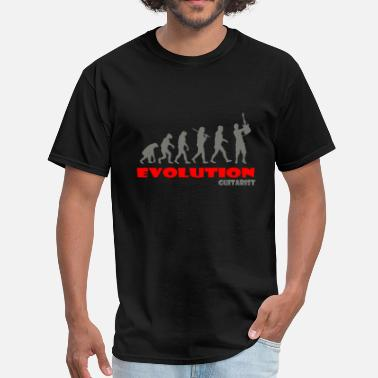 Evolution Guitarist Guitar ape of Evolution - Men's T-Shirt