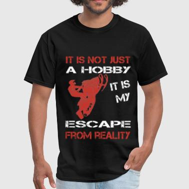 Snowmobile - It is my escape from reality - Men's T-Shirt