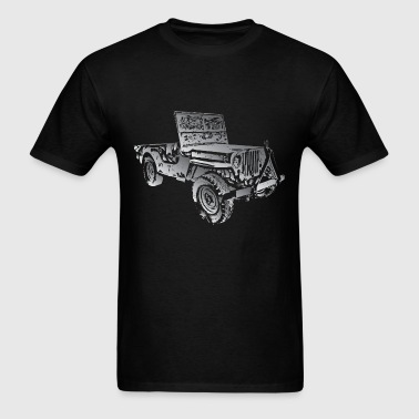 Old Jeep Wrangler Grunge - Men's T-Shirt