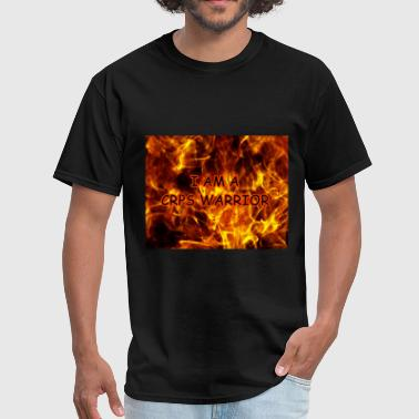 crps_warrior_on_fire_background222b - Men's T-Shirt