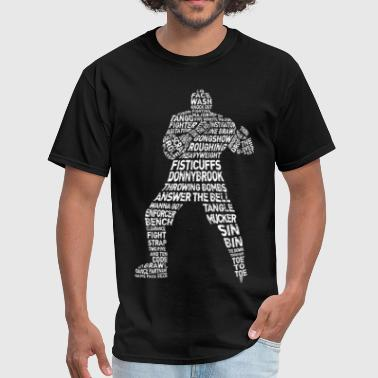 Hockey Enforcer Calligram - Men's T-Shirt