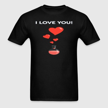 Flask Of Hearts Geek Valentine s Day Card - Men's T-Shirt