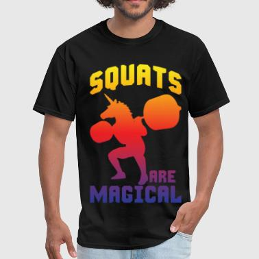Magical Squats Are Magical - Leg Day Unicorn Squatting - Men's T-Shirt