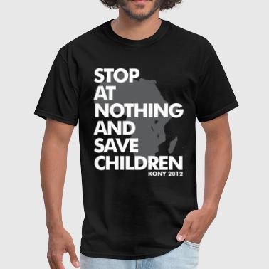 Invisible Children STOP AT NOTHING - Men's T-Shirt