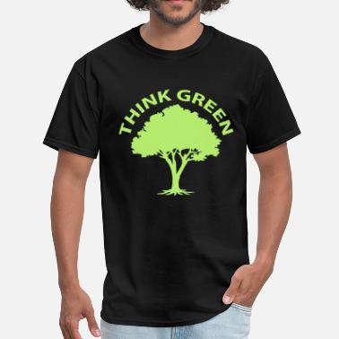 Green Team Think green, green tree - Men's T-Shirt