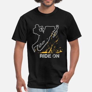 Riding Snowmobile Snowmobile Ride On - Men's T-Shirt