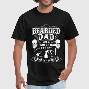 Bearded dad - Like others except more of a badass - Men's T-Shirt