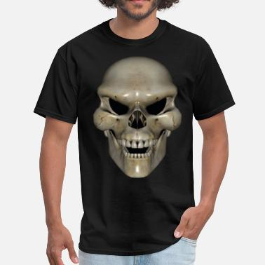 3d Drawing Angry Skull - Men's T-Shirt