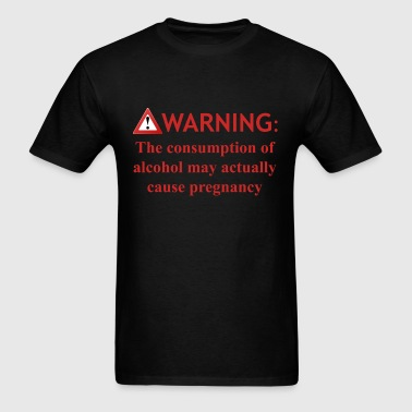 warning alcohol - Men's T-Shirt