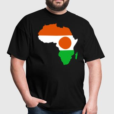 Niger Flag In Africa Map - Men's T-Shirt