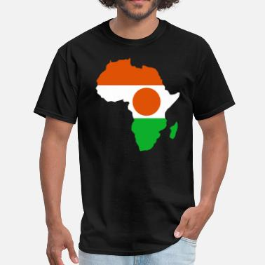 Niger Niger Flag In Africa Map - Men's T-Shirt
