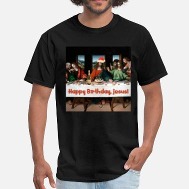 Last Supper Happy Birthday, Jesus! - Men's T-Shirt