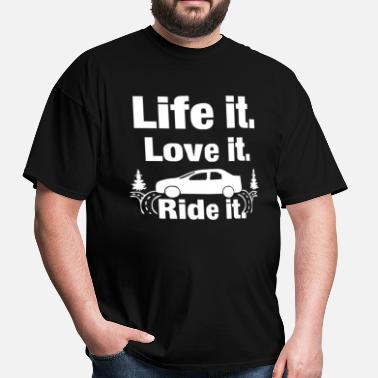 Riding Sayings Life it love it ride it Funny Saying - Men's T-Shirt