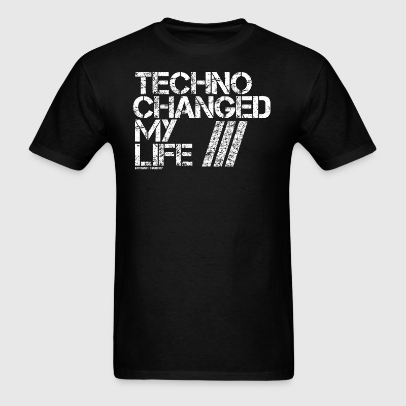 Techno Changed My Life - Men's T-Shirt