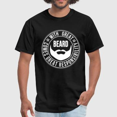 facial_hair_funny_saying - Men's T-Shirt