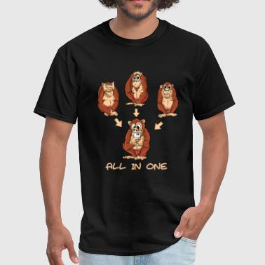The 3 monkeys are now 4 monkeys - Men's T-Shirt